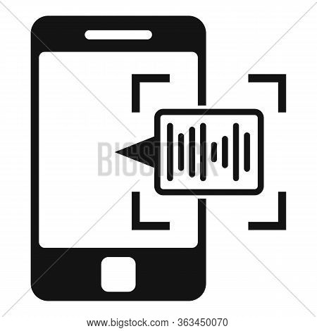 Voice Phone Authentication Icon. Simple Illustration Of Voice Phone Authentication Vector Icon For W