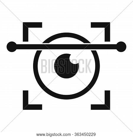 Iris Scanning Icon. Simple Illustration Of Iris Scanning Vector Icon For Web Design Isolated On Whit