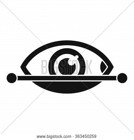 Eye Scanning Authentication Icon. Simple Illustration Of Eye Scanning Authentication Vector Icon For