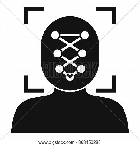 Man Face Recognition Icon. Simple Illustration Of Man Face Recognition Vector Icon For Web Design Is