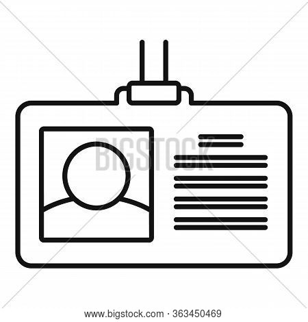 Authentication Badge Icon. Outline Authentication Badge Vector Icon For Web Design Isolated On White