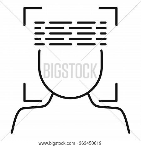 Face Scanning Icon. Outline Face Scanning Vector Icon For Web Design Isolated On White Background