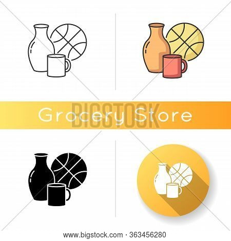 Miscellaneous Icon. Supermarket Items. Grocery Store Category. Convenience Store Section. Mug For Dr