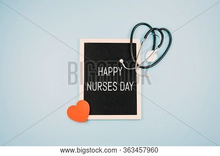 Happy Nurses Day Background, Banner. International Nurses Day Healthcare And Medical Concept With No