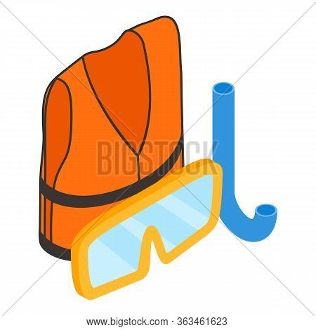 Snorkeling Icon. Isometric Illustration Of Snorkeling Vector Icon For Web