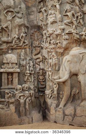 Arjuna's Penance - Descent Of The Ganges