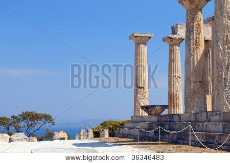 Temple of Aphaea at Aegina, Greece