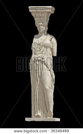 Grega antiga estátua de uma cariátide