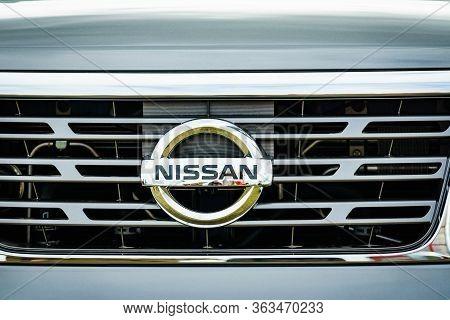 Bednary Near Poznan, Poland - September 20, 2019: Agroshow In Poland. Nissan Logo On Car. Nissan Is