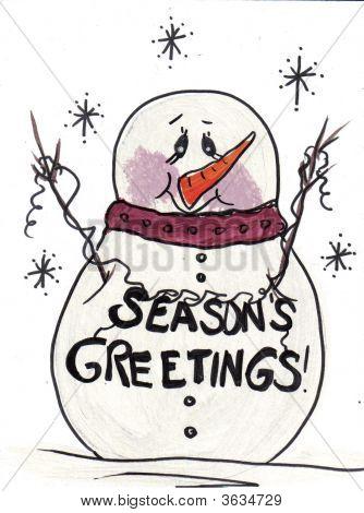 Snowman Seasons Greetings