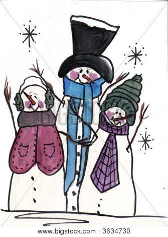 Snowmen Three Brothers