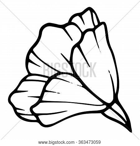 Peony Flower Icon. Hand Drawn Illustration Of Peony Flower Vector Icon For Web Design