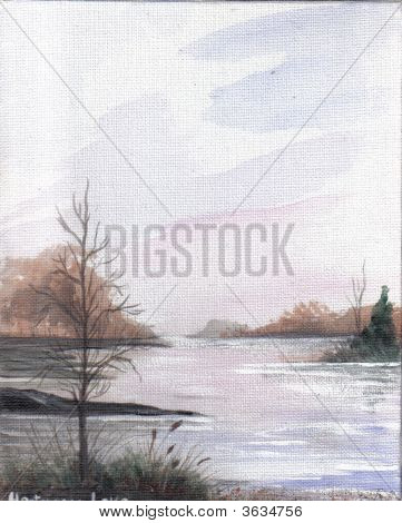 Painting Peaceful Lake