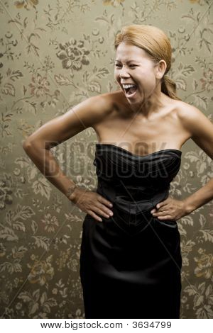 Pretty Ethnic Woman Laughing