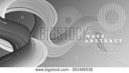 Color Wave Abstract. Neon Gradient Motion. Dynamic Template. Liquid Music Wave Abstract. Geometric 3