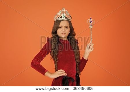 Magic Trick. Magic Stick Concept. Cute Kid Doing Magic. Amazing Miracles. Happy Childhood. Halloween