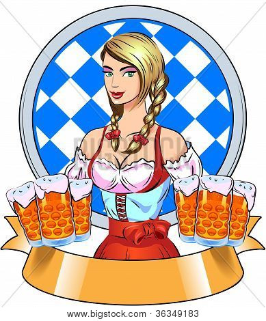 Young Girl With Beer