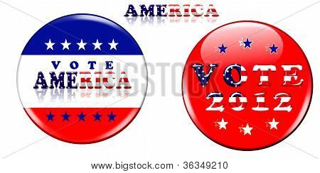Two Vote Badges 2012