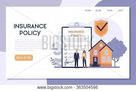 Homeowners Insurance Web Banner Or Landing Page.