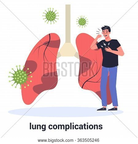 Lung Complication Due To Covid-19. Virus Prevention An Protection.