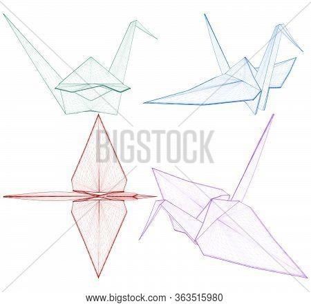 Origami Crane Vector 01.eps