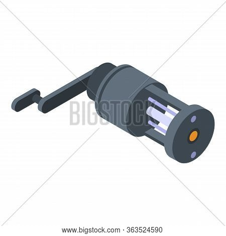 Spinning Reel Icon. Isometric Of Spinning Reel Vector Icon For Web Design Isolated On White Backgrou