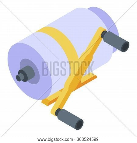 Fishing Reel Icon. Isometric Of Fishing Reel Vector Icon For Web Design Isolated On White Background