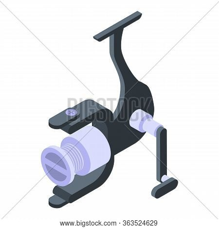 Rod Reel Icon. Isometric Of Rod Reel Vector Icon For Web Design Isolated On White Background