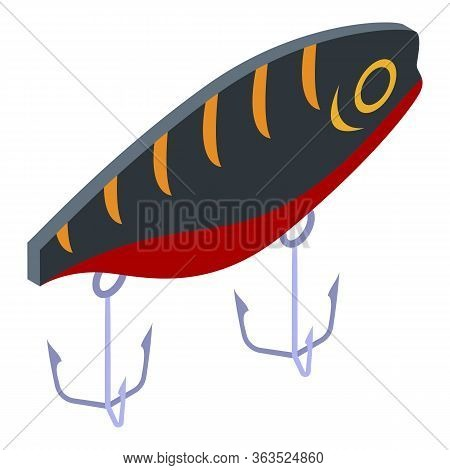 Plug Fish Lure Icon. Isometric Of Plug Fish Lure Vector Icon For Web Design Isolated On White Backgr