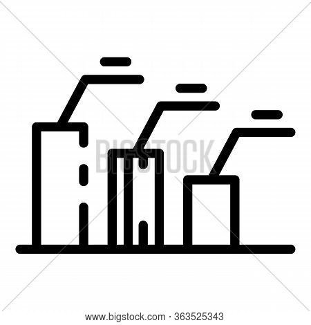 Pr Specialist Chart Icon. Outline Pr Specialist Chart Vector Icon For Web Design Isolated On White B