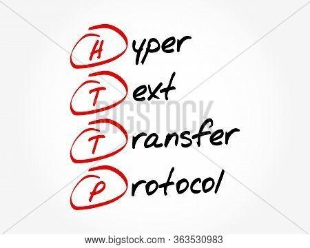 Http - Hyper Text Transfer Protocol Acronym, Technology Concept Background