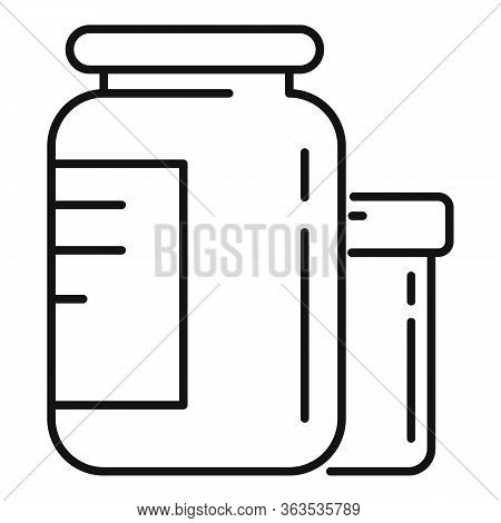Protein Jar Icon. Outline Protein Jar Vector Icon For Web Design Isolated On White Background