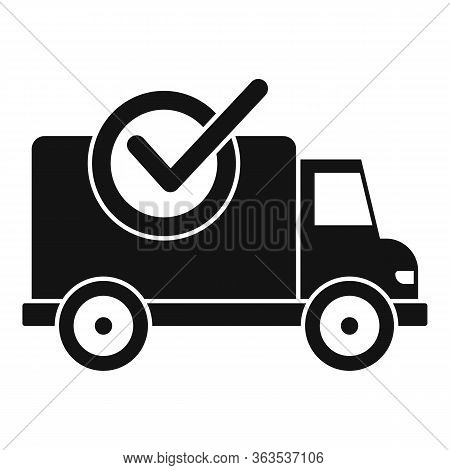 Finished Delivery Icon. Simple Illustration Of Finished Delivery Vector Icon For Web Design Isolated