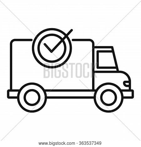 Finished Delivery Icon. Outline Finished Delivery Vector Icon For Web Design Isolated On White Backg