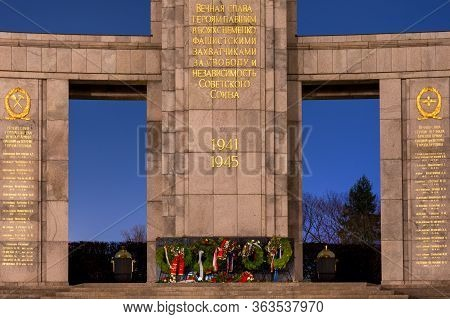 The Soviet War Memorial In Tiergarten In Berlin, Germany