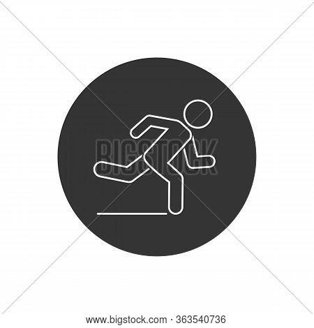 Runner Line Icon. Logo Element Illustration. Runner Symbol Design. Colored Collection. Runner Concep