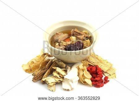 Chinese Food - Clear Soup With Chinese Herbal Medicine