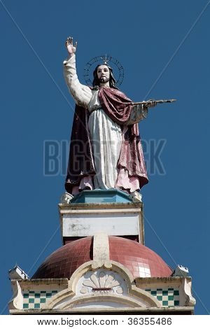 Christ Sculpture on the Matriz Church