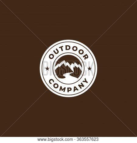 Outdoor Logo Design , Simple Circle Outdoor Logo Design Template . Modern Outdoor Logo Concept With