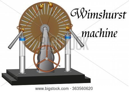 The Wimshurst Machine, Which Is An Electrostatic High Voltage Generator, Is Used In Physics Lessons.