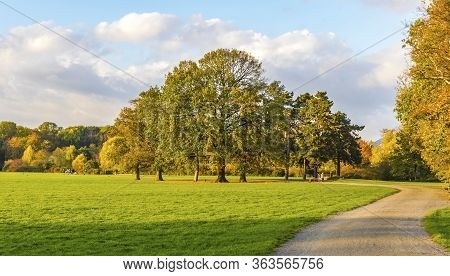 Rosenthal Forest Park In Leipzig City, Saxony, Germany. Located North Of The Historic City Center, R