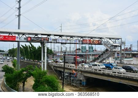 Marikina, Ph - Aug. 25: Marcos Highway And Bridge On August 25, 2018 In Marikina, Philippines. Marco
