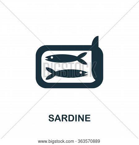 Sardine Icon. Simple Illustration From Seafood Collection. Creative Sardine Icon For Web Design, Tem