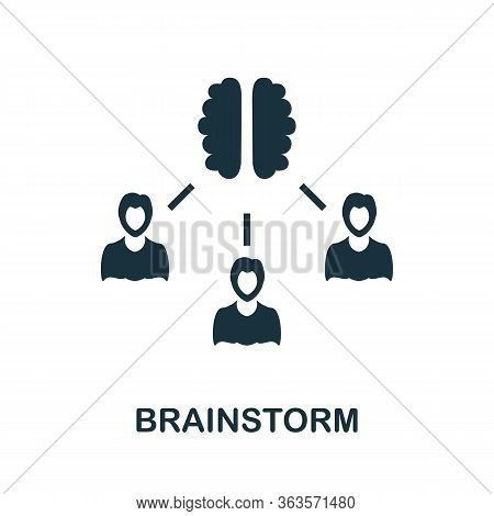 Brainstorm Icon. Simple Illustration From Startup Collection. Creative Brainstorm Icon For Web Desig