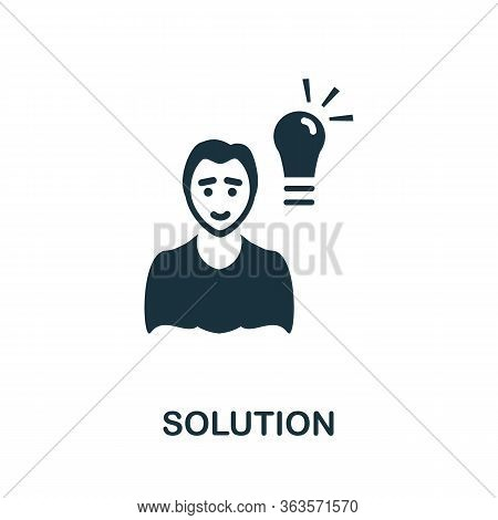 Solution Icon. Simple Illustration From Startup Collection. Creative Solution Icon For Web Design, T