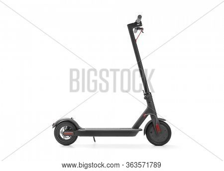 Electric scooter on white background, including clipping path
