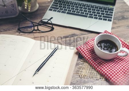 Calendar And Laptop For Planner To Plan Reminder Daily Appointment Timetable,appointment,organizatio