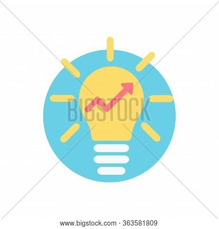 Entrepreneurship Icon. Symbol Of A Light Bulb To Symbolize A Great Idea, Start Up, Brainstorming Or