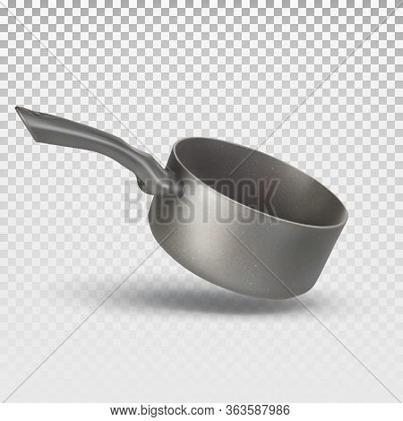 Vector 3d Realistic Pan, Stewpan For Cooking Food. Kitchenware. The Illustration Is Isolated On A Wh