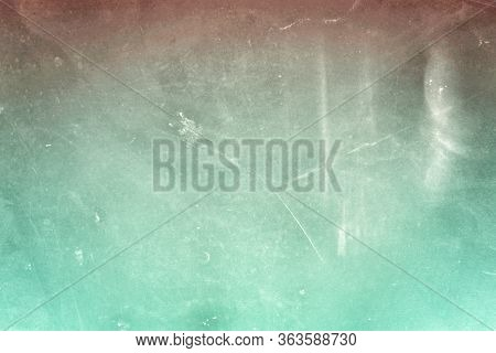 Grungy Blue Ocean Turquoise Abstract Faint Scratched Texture Background With Space For Text, Word Or